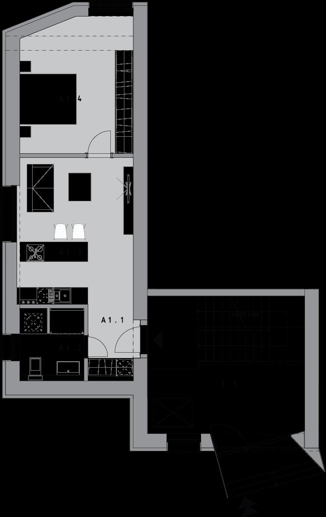 2 izbový byt A