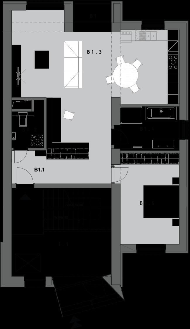 3-izbový byt B