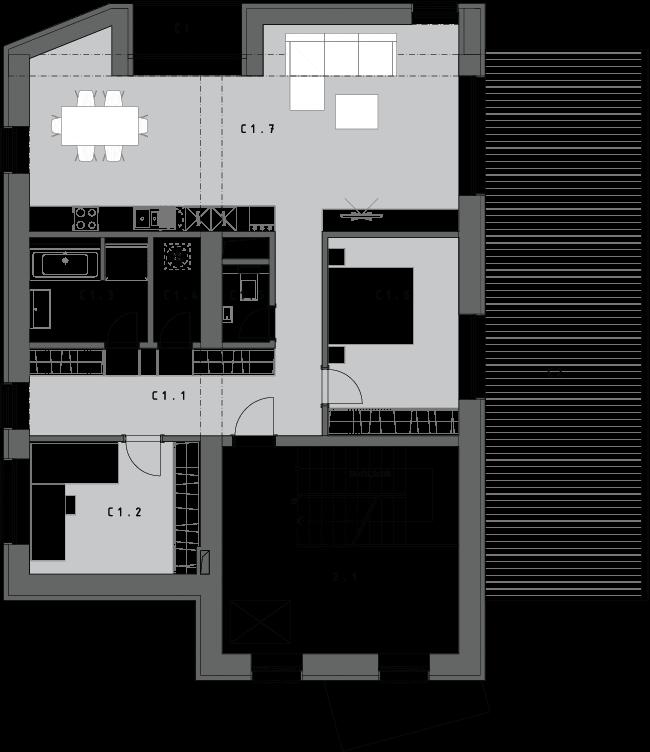 3-izbový byt C